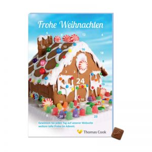 Promotion Adventskalender A5 40 g mit Logodruck