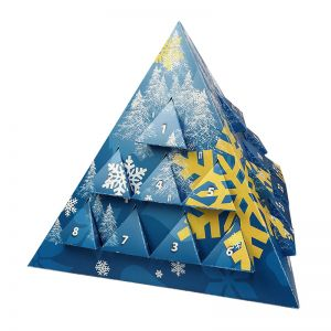 Pyramiden Adventskalender mit Standardmotiven