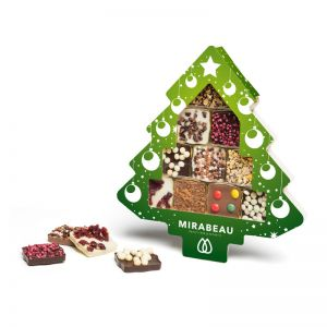 Schokini Weihnachtsbaum in Werbekartonage