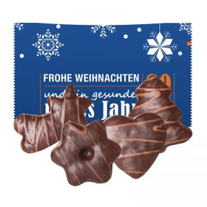 Schoko-Lebkuchen Sorten-Mix im Flowpack mit Logodruck