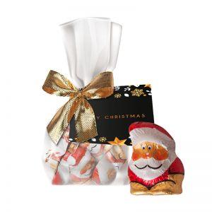Schoko Weihnachtswichtel im Flachbeutel mit Werbekarte