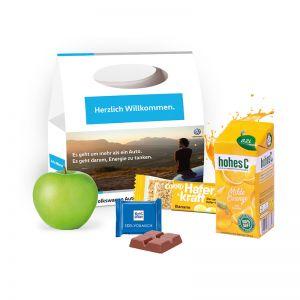 Snack-Pack Fitness mit Tragegriff und Werbedruck