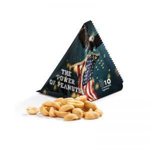 Snack Tetraeder Erdnüsse mit Werbedruck