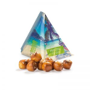 Snack Tetraeder Pretzel Balls mit Werbedruck