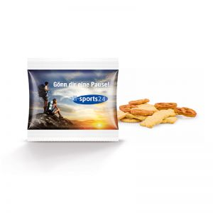 Snack Tüte veganer Knabber Mix mit Logodruck
