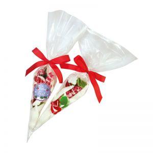Süße Weihnachtstütchen mit Werbeetikett