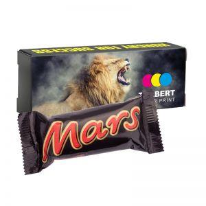 Sweet Box mit Mars Schokoriegel und Logodruck
