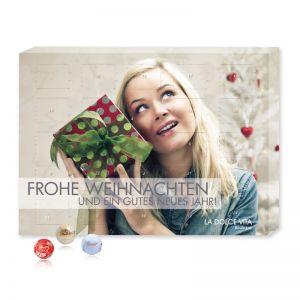 Tisch Adventskalender Gourmet Edition mit Logodruck