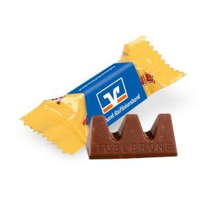 Toblerone Mini mit Werbeschuber und Logodruck