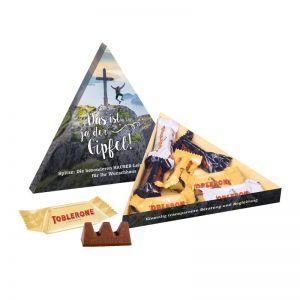 TOBLERONE Minis in Dreieck-Präsentbox mit Werbedruck