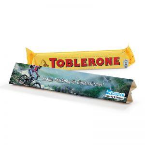 Toblerone Riegel in Werbekartonage mit Logodruck