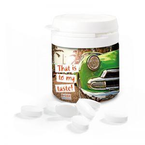 Top Can Midi zuckerfreie Pfefferminzpastillen mit Logodruck