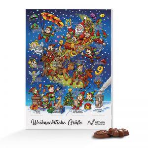 Wand Adventskalender Classic mit Rätselmotiv