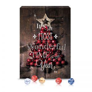 Wand Adventskalender Gourmet Edition mit Logodruck