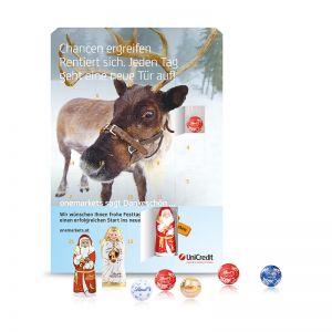 Wand Adventskalender Gourmet Edition Santa mit Logodruck