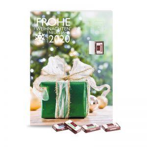 Wand-Adventskalender mit Fairtrade Sarotti Schokolade und Werbedruck