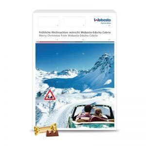Wandadventskalender Toblerone Milchschokolade mit Werbedruck
