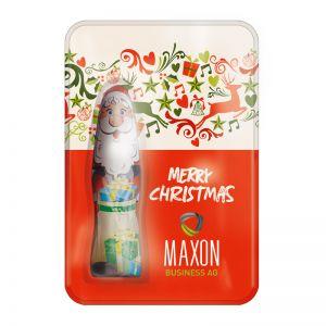 Weihnachtliche Sweet Card mit Werbedruck