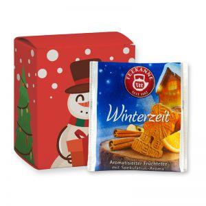 Weihnachts-Beuteltee Winterzeit in einer Faltschachtel mit Werbedruck