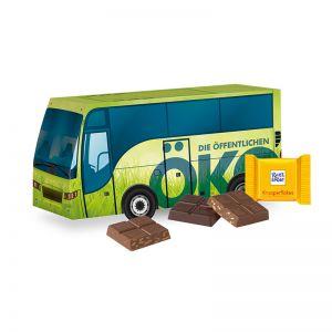 Weihnachts-Express Bus Ritter SPORT mit Werbebedruckung