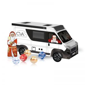 Weihnachts-Express Camper Lindt mit Werbebedruckung
