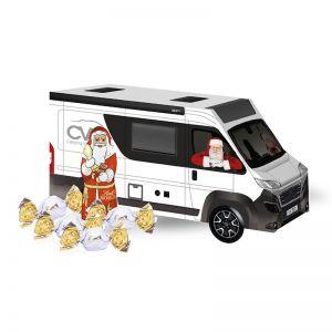 Weihnachts-Express Camper Lindt Vollmilch mit Werbebedruckung