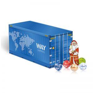 Weihnachts-Express Container Lindt mit Werbebedruckung