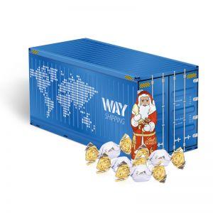 Weihnachts-Express Container Lindt Vollmilch mit Werbebedruckung