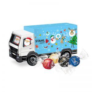 Weihnachts-Express LKW Lindor Pralinés mit Werbebedruckung