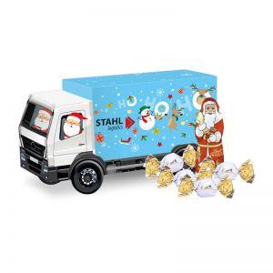 Weihnachts-Express LKW Lindt Vollmilch mit Werbebedruckung
