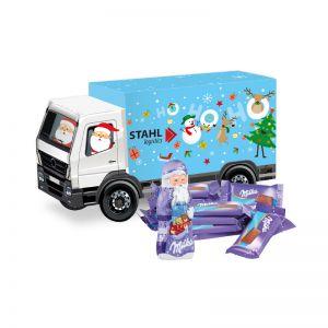 Weihnachts-Express LKW Milka mit Werbebedruckung