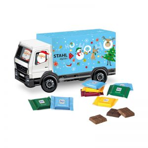 Weihnachts-Express LKW Ritter SPORT mit Werbebedruckung