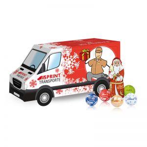 Weihnachts-Express Transporter Lindt mit Werbebedruckung