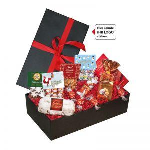 Weihnachts-Mix No 2 in Geschenk-Schatulle mit Werbeanbringung