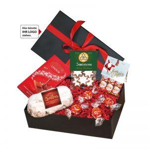 Weihnachts-Mix No 3 in Geschenk-Schatulle mit Werbeanbringung