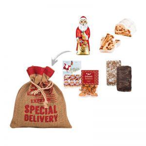 Weihnachtspräsent im Jutesack No 1 mit Werbeanbringung