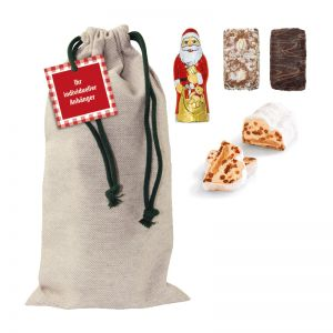 Weihnachtssack-Mix mit Werbeanhänger