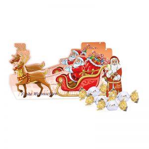 Weihnachtsschlitten Lindt Vollmilch mit Werbedruck