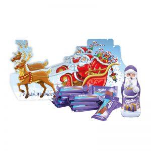 Weihnachtsschlitten Milka Schokoladenmischung mit Werbedruck