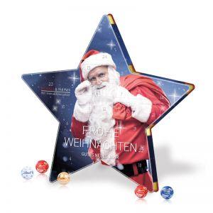 Werbe Lindt Stern Adventskalender mit Werbedruck