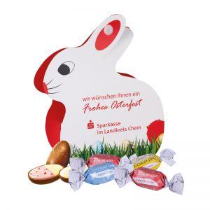 Werbe-Osterhase Lindt Joghurt-Eier mit Werbebedruckung