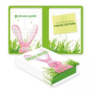 Werbe Osterkalender in Buchform