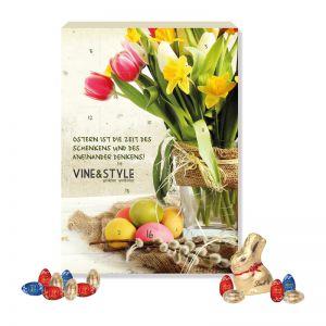 Werbe Osterkalender Lindt Gourmet Edition mit Werbedruck
