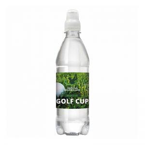 Werbe Quellwasser 500 ml Slimbottle Sportverschluss