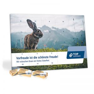 Werbe-Tisch-Osterkalender Lindt mit Werbebedruckung