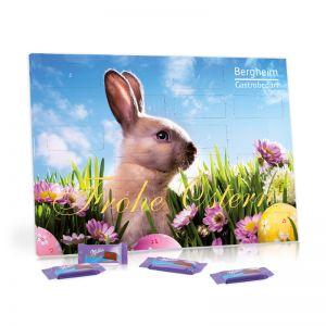 Werbe-Tisch-Osterkalender mit Milka und Logodruck