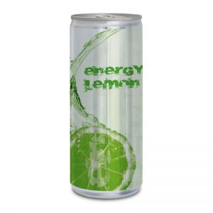 Werbedose Energy Lemon mit Logodruck
