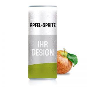 Werbegetränk Apfel Spritz mit Logodruck
