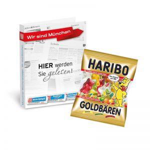 Werbekarte HARIBO Goldbären mit Werbedruck