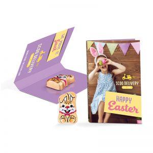 Werbekarte Osterhase mit Logodruck
